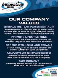 company values innovative idminnovative idm company values