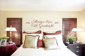bedroom wall decor romantic. Simple Bedroom Bedroom Wall Decor Romantic And Always Kiss Me Goodnight  Sticker Idea Throughout I