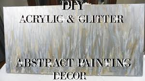 diy acrylic and glitter abstract painting wall art decor petalisbless