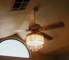 this lady combined a ceiling fan and crystal chandelier diy in add light to ceiling fan