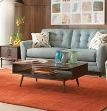kisper brown rectangular coffee table mid century