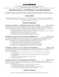 Digital Marketing Resume Sample Best Of Marketing Manager Resume Marketing Director Resume Samples Director