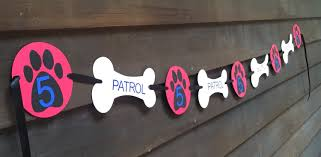 Dog Birthday Decorations Personalized Paw Patrol Birthday Party Banner Paw Patrol Party