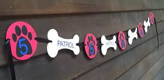 Dog Birthday Decorations Personalized Paw Patrol Birthday Party Banner Paw Patrol Party