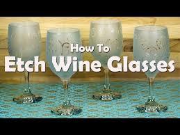diy craft tutorials how to etch wine glasses