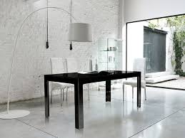 unico contemporary ghost dining table in clear dark grey or white glass thumbnail