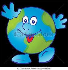 Smiling Earth Vector Art Illustration On A Black Background