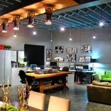 loft home office. modern loft living space with home office work area i