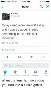 ✅ best memes about a feminist a feminist memes feminism scream and verizon o verizon 9 58 am 87% tweet