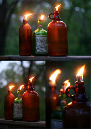 green living ideas teaches us how to make recycled bottle tiki torches using washers and their own homemade wicks saves you money wicks aren t free