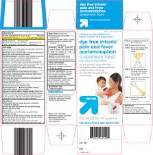 Mcneil Tylenol Dosing Chart Up And Up Dye Free Infants Pain And Fever Acetaminophen