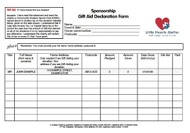 sponsorship forms for fundraising fundraising pack little hearts matter