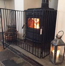 nursery stove fire guard black safety fireplace child kid inc free postage