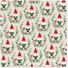Santa Gnomes Christmas Wrapping Paper Roll 45 Sq Ft Wrapping