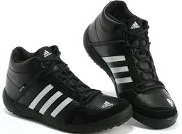 adidas best leather top outdoor warm hiking shoes mens black white sneaker amazing