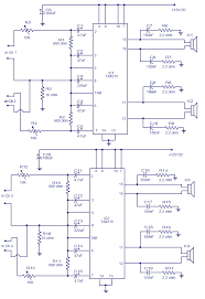 4 x 15 watt power amplifier electronic circuits and diagram 4x15w amplifier circuit