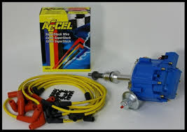 ford hei distributor amp accel wires blue kit pictured above is what you will receive the complete hei super 50k distributor and the accel wire set this set of has two coil wires included for those