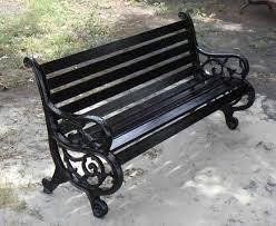 Wrought Iron Garden Bench Seat  Home Outdoor DecorationOutdoor Wrought Iron Bench