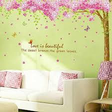 pink cherry blossom flower tree wall