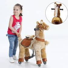 <b>Ride on</b> Horse Toy with Wheels for <b>Kids Plush</b> S Size Animal <b>Rides</b> ...