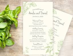 Wedding Itinerary Herb Garden Wedding Itinerary Cards LabelsRus 17