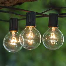 25 ft black c9 string light with g50 clear bulbs