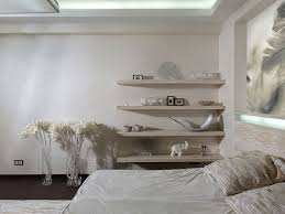 ... Fascinating Bedroom Design And Decoration Using Various Mounted Wall Bedroom  Shelves : Interactive White Bedroom Decoration ...