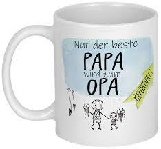 Geschenk Für Werdenden Opa Tasse Mit Spruch Personalisiert Etsy