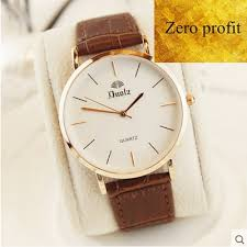 Simple Products Profit Zero Profit Simple Waterproof Ultra Thin Mens And Womens Skin With Quartz Face Watch