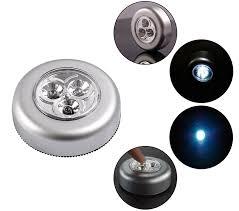 Stick Push Led Light For Cabinets Cars Cupboards 6 Pcs 3 Led
