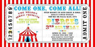 Circus Invitation Template Carnival Themed Invitations Templates
