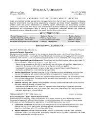 Job Resume Office Administrator Resume Summary Office