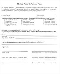 Simple Medical Release Form Template – Mklaw