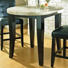 steve silver monarch marble top counter table in cordovan dark cherry wood finish