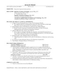 Example Of New Graduate Nurse Resume Free Download Certified Nursing