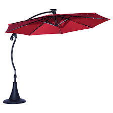 led cantilever patio umbrella vienne 10 red