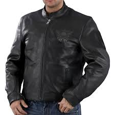 milwaukee leather men s reflective skulls leather scooter jacket leatherup com