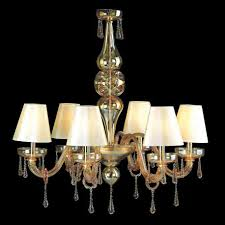 fabiola murano glass chandelier with lampshades 8 lights amber