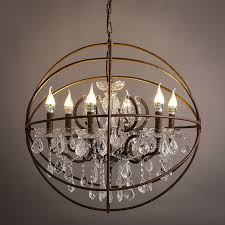 awesome globe chandelier with crystals iron globe chandelier crystals reviews ping iron