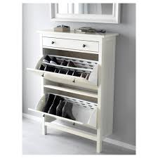 hemnes shoe cabinet with  compartments  white  ikea