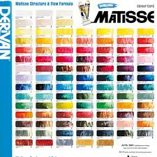 Astm Color Chart Matisse Structure Flow Formula Colour Chart In 2019