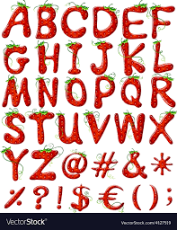 Designs Of Letters Ofthe Alphabet Letters Of The Alphabet With Strawberry Design
