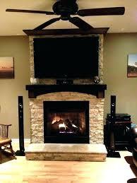 mounting on brick fireplace hanging above flat screen mount tv outside dazzling moun