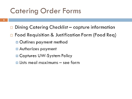Placing A Catering Order With University Catering - Ppt Video Online ...