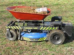 picture of arduino r c lawnmower painted