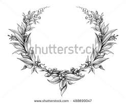 frame tattoo designs. Laurel Wreath Vintage Baroque Frame Border Monogram Floral Heraldic Shield Ornament Leaf Scroll Engraved Retro Flower Tattoo Designs