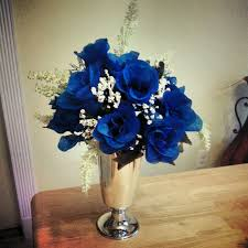 Blue And Silver Wedding Centerpieces