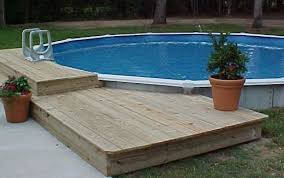 O Above Ground Round Pool With Deck Installation And  Construction Information