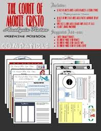 the count of monte cristo teaching resources teachers pay teachers  the count of monte cristo interactive notebook analysis novel basics notes