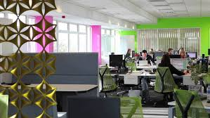 creative office space large. Home Office : Cool Interior Design For Media Company Spectrum Space Workplace Unique Decorating Ideas Modern Layout Creative Desks Small Spaces Tiny Large